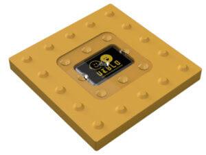 ビーコン内蔵の次世代点字ブロック